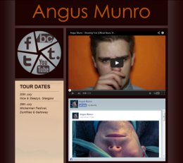 Angus Munro Music Website