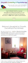 450px screenshot of the Chrysallis Counselling website