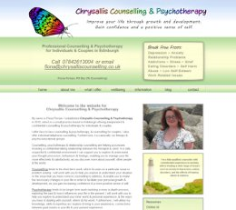 Chrysallis Counselling - Website Redesign