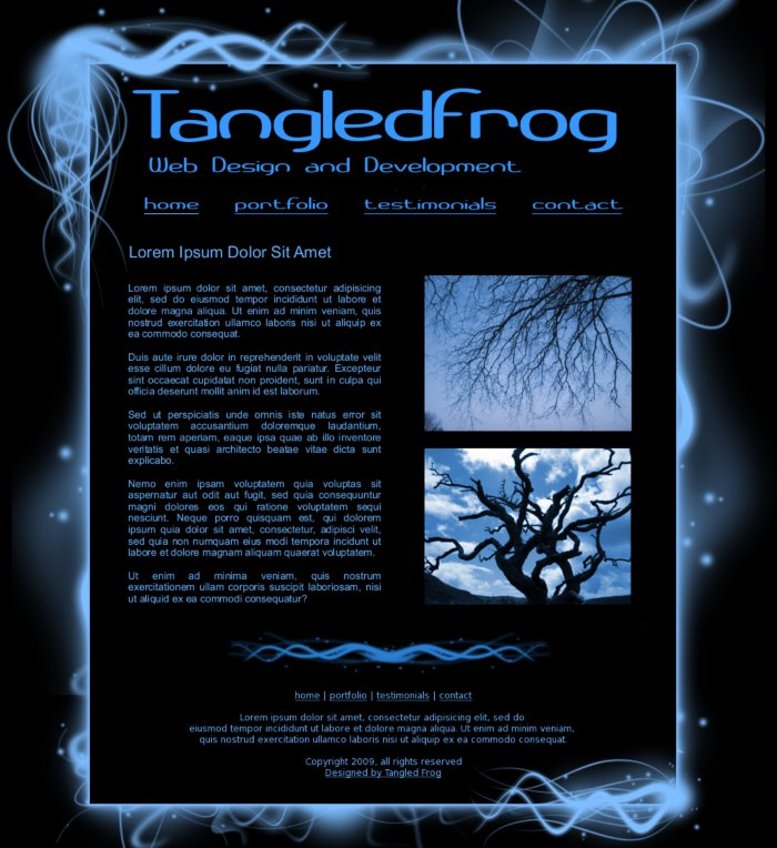 Tangled Frog - Website Designs