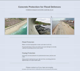Screenshot of the Enviroguard Flood Defences website