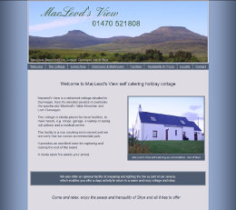 McLeods View Holiday Cottage, Dunvegan, Isle of Skye
