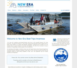 Screenshot of the New Era Boat Trips website