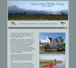 Screenshot of the Oystercatchers Cottage Website