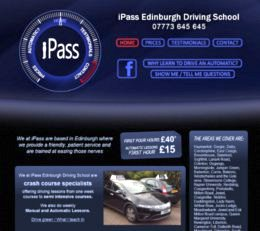 iPass Edinburgh Driving School Website