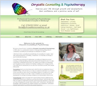 Chrysallis Counselling Website