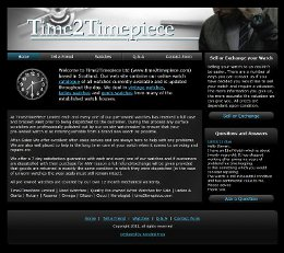Time 2 Timepiece eCommerce Website