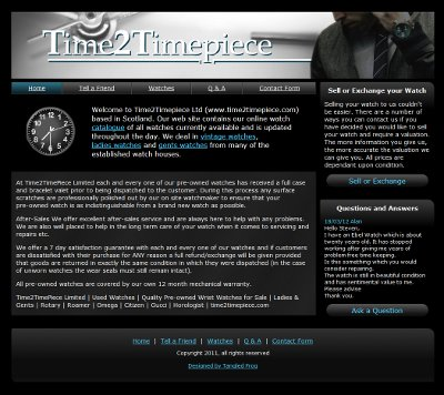 Time2Timepiece Website