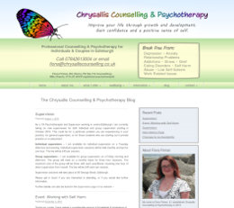 Chrysallis Counselling and Psychotherapy Website
